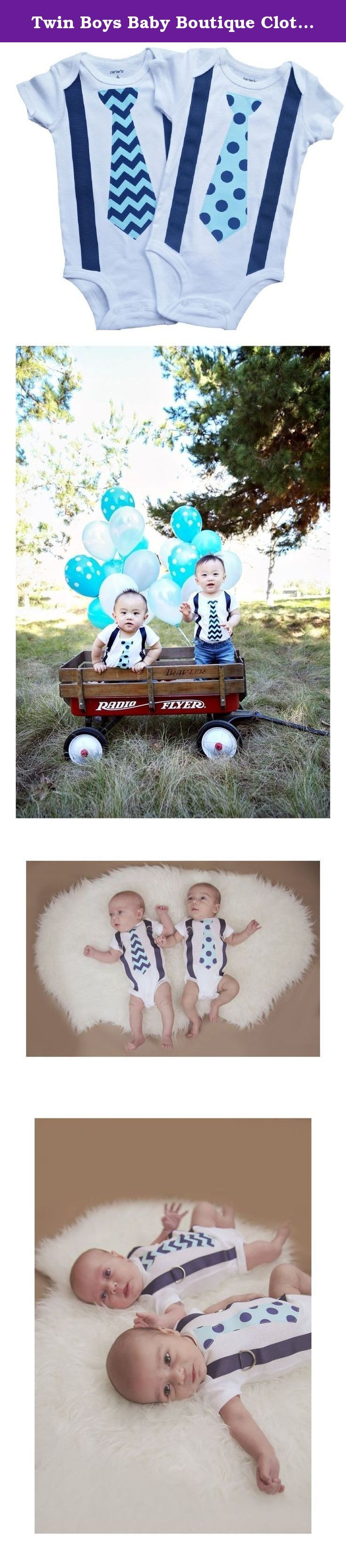 Twin Boys Baby Boutique Clothing Navy Aqua Duo by Perfect Pairz. Boutique wear for baby boy twins. Designed by a twin mom for twin boys.