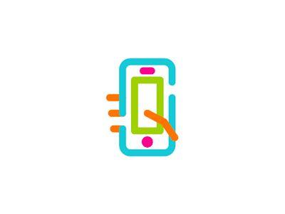 Hand + phone + S letter, social video app logo design symbol http://ift.tt/1ars3Cc