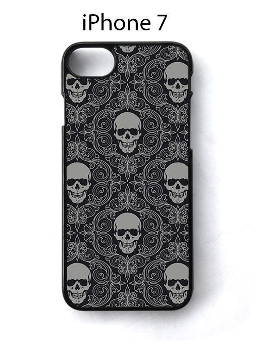 Skull Grey Pattern iPhone 7 Case Cover - Cases, Covers & Skins