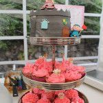 Knight, castle and princess cake & cupcakes - ridder, prinsessen en kasteel taart en cupcakes