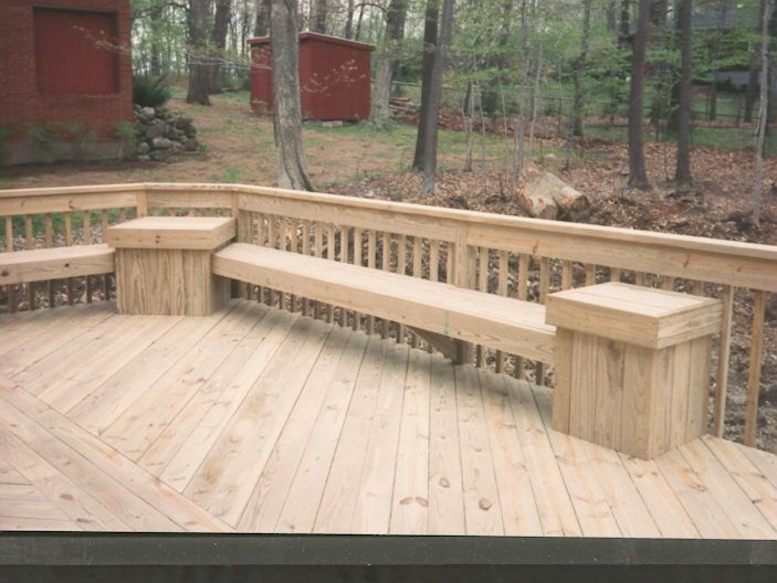 Two Tier Decks Pressure Treated Two Tier Deck With Hot
