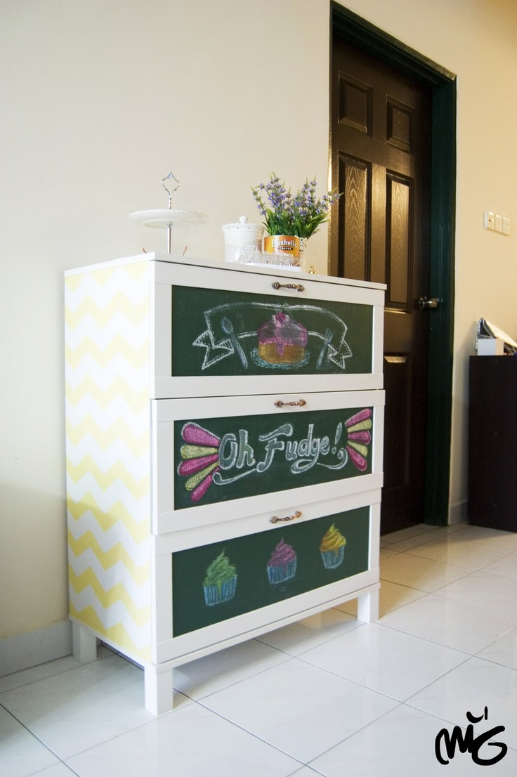 To make my boring Aneboda wardrobe nursery ready!
