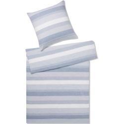 hessnatur Jersey-Bettwäsche Liam aus Bio-Baumwolle, Größe 155×220 / 40×80 cm, blau hessnaturhessnatu
