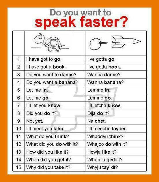 Do you want to speak faster?  Do you want to sound more like a native? Here are some tricks.