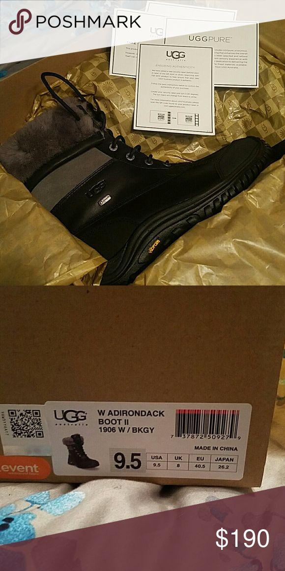UGG Adirondack Boot II Black with grey size 9.5 UGG Shoes Winter & Rain Boots