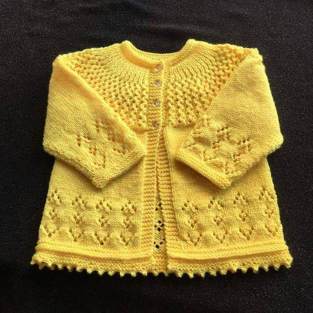 Rosabel Cardigan Free Pattern | Baby cardigan knitting