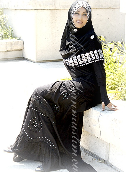 Black Embroidered/Sequined Applique Cotton Skirt - One Size Adjustable waist