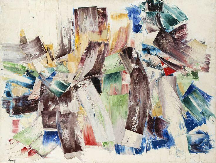 Marcelle Ferron - Untitled, 1960, oil on canvas. Follow the biggest painting board on Pinterest: www.pinterest.com/atelierbeauvoir