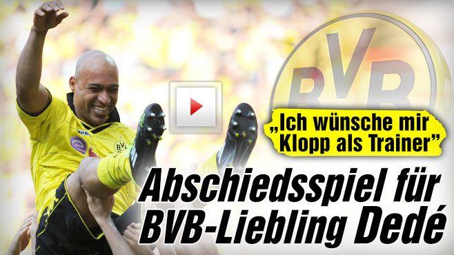 Vier Jahre nach dem Abschied von Borussia Dortmund: Abschiedsspiel für Dedé -  Abschied bei der Borussia. Sein letztes Spiel im BVB-Trikot bestritt Dedé beim 3:1-Sieg zu Hause gegen Eintracht Frankfurt http://www.bild.de/sport/fussball/borussia-dortmund/abschiedsspiel-fuer-dede-40887966.bild.html