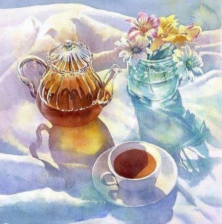 Sparkling watercolor still life   from Japan watercolorist Ryoyu Fukui Watercolour ~ ~ ~