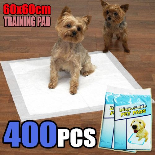400 PCS Puppy Pet Dog Cat Training Pads 60x60cm Super Absorbent Wee Loo Toilet Kit - Ultra Saver