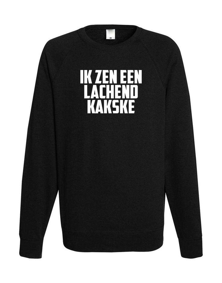 Sweatshirt 'IK ZEN EEN LACHEND KAKSKE'