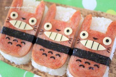 「となりのトトロ☆トトロ稲荷」弁当 - スタジオジブリの癒し系トトロおいなりさん | キャラ弁まにあ-レシピや作り方を検索