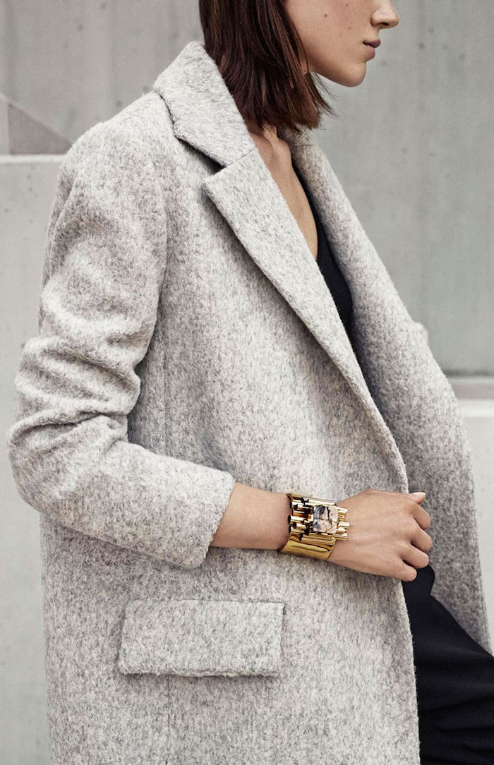 light grey coat | HarperandHarley