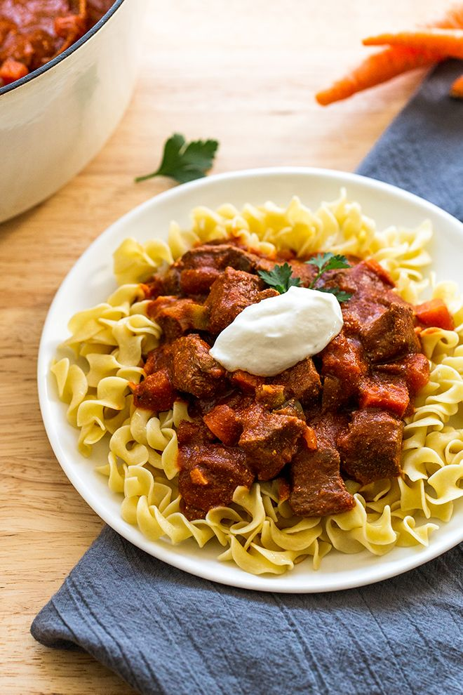 Traditional Hungarian Goulash is the definition of comfort