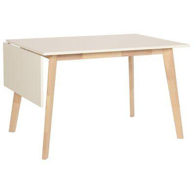 Nordkap bord med klaff - Vit / Ljus ek