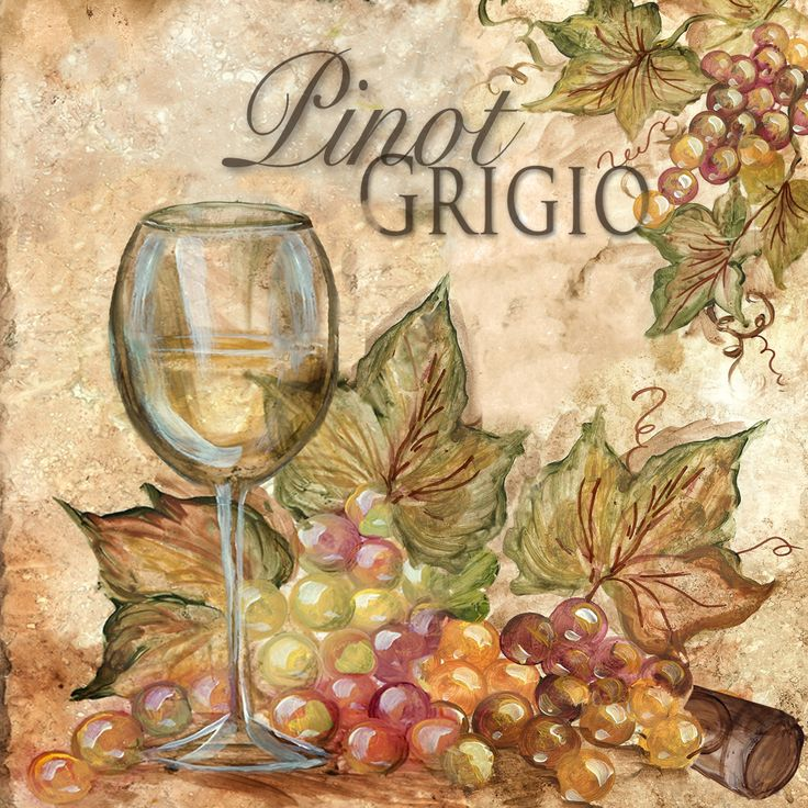 """Grapes & Glasses Pinot Grigio"" ~ Tre Sorelle Studios"
