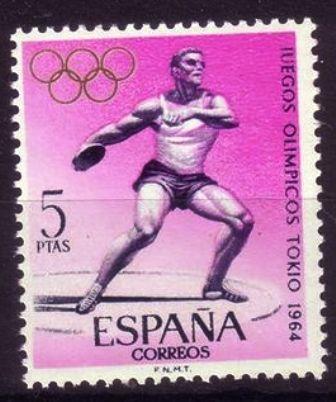España-Olimpíadas Tokio 1964-Atletismo,Lanzamiento de Disco
