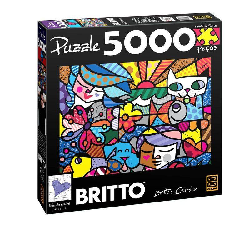 Quebra Cabeça 5000 Peças - Romero Britto - Britto's Garden