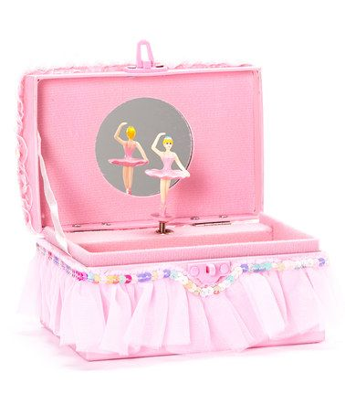 This Pink Ruffle Ballerina Jewelry Box is perfect! #zulilyfinds