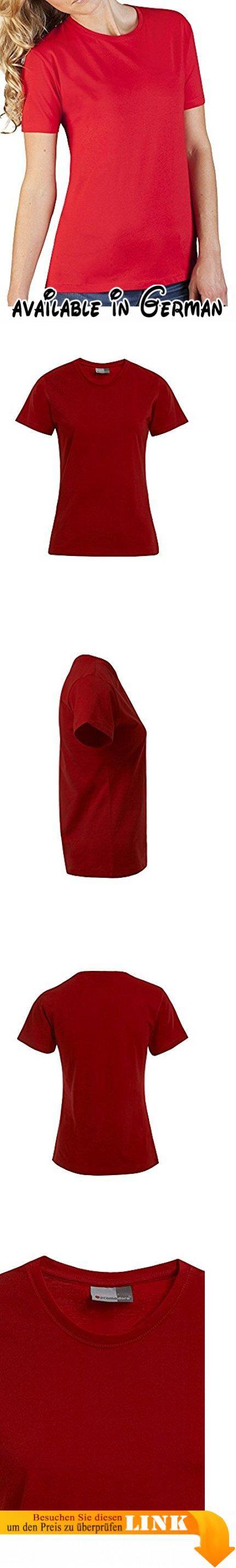 Premium T-Shirt Plus Size Damen, XXXL, Feuerrot. Softes Single-Jersey T-Shirt mit leicht tailliertem Fit. Gekämmte Baumwolle sorgt für Strapazierfähigkeit. 100 % Baumwolle. Verfügbare Größen: XS-XXL. Maschinenwaschbar bis 40° #Apparel #SHIRT