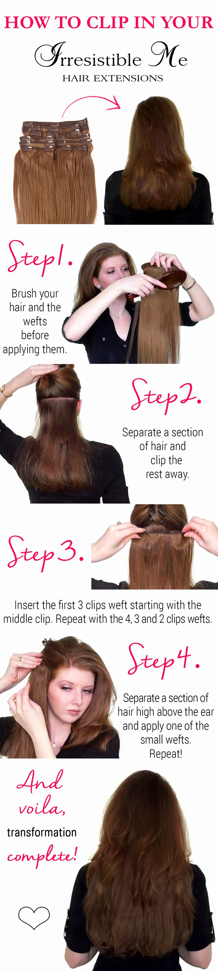 143 best hair extensions images on pinterest hairstyles braids add instant length and volume to your hair with irresistible me clip in hair extensions pmusecretfo Choice Image