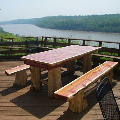 Cedar Log Picnic Table Woodworking Projects Amp Plans