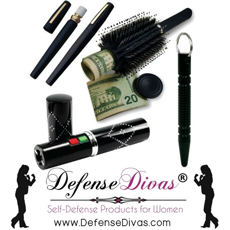The Black Widow Brianna Female Self Defense Kit is a bundle of self-defense  products