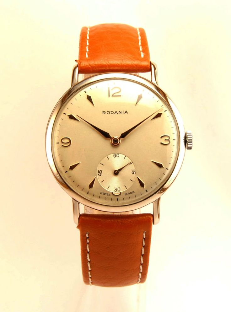 Swiss vintage Rodania 50's. Colectible caliber AS 1130- WEHRMACHTSWERK (army movement).