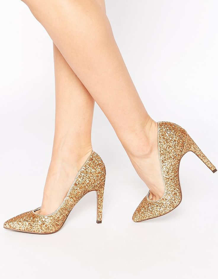Truffle Collection Nova Glitter Court Shoes €36.77 10 cm heel