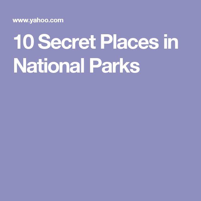 10 Secret Places in National Parks