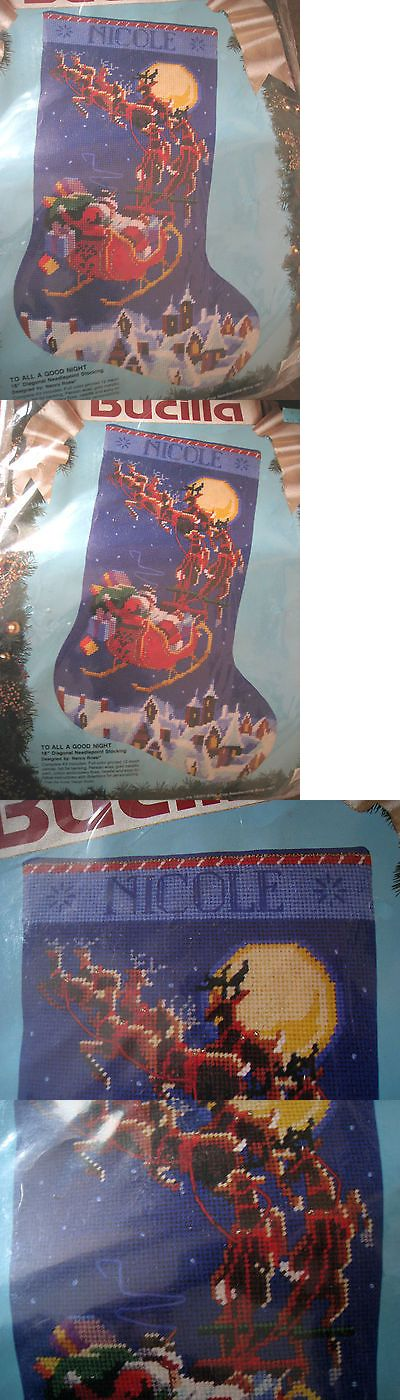 Needlepoint Kits 3109: Bucilla Christmas Needlepoint Stocking Kit,To All A Goodnight,Rossi,18 ,60708 -> BUY IT NOW ONLY: $168.75 on eBay!