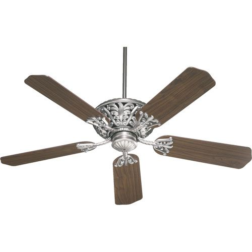 Windsor Antique Silver Energy Star 52 Inch Ceiling Fan Quorum International Stem Mounted F