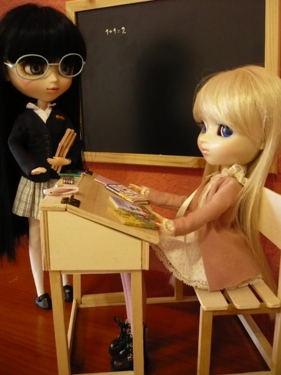Scrivania in legno forniture per pullip blythe barbie vasca momoko ecc ...