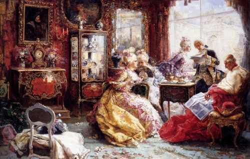 Salvador Sanchez Barbudo Morales (1857-1917) - An afternoon in the salon