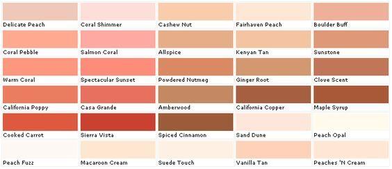 Coral Paint Color Chart Rebellions