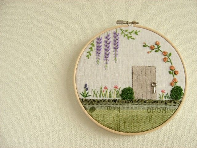 Secret Garden original embroidery art by Yuki Sugashima