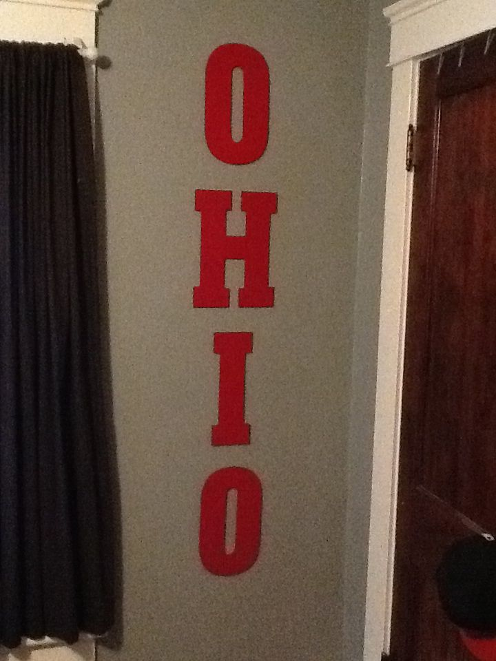 Ohio State bedroom