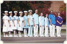 Nurse uniform evolution at the Minnesota State University's School of Nursing. ~ ~ ~ http://www.mnsu.edu/today/archive/2004spring/#