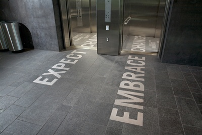 elevator graphics - expect change/embrace change
