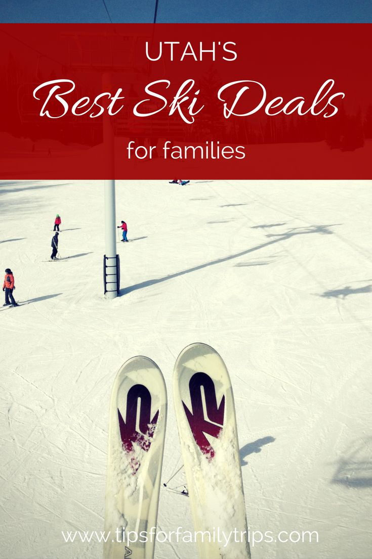 Ski deals for families! The best discounts and programs for families at every Utah resort. | tipsforfamilytrips.com | Snowboard | Park City | ski vacation | winter | ski package | snowboarding | Ogden | Alta | Brighton | Beaver Mountain | Brian Head | Cherry Peak | Deer Valley | Eagle Point | Nordic Valley | Salt Lake City | Powder Mountain | Snowbasin | Snowbird | Solitude | Sundance