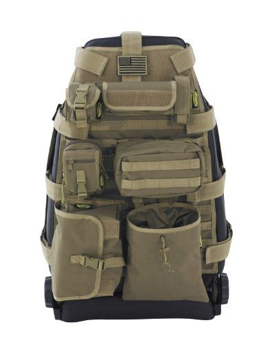 "Stumbled on these ""tactical"" seat covers with MOLLE webbing on the back. If you work out of your car/truck or just like to keep your EDC gear organized..."