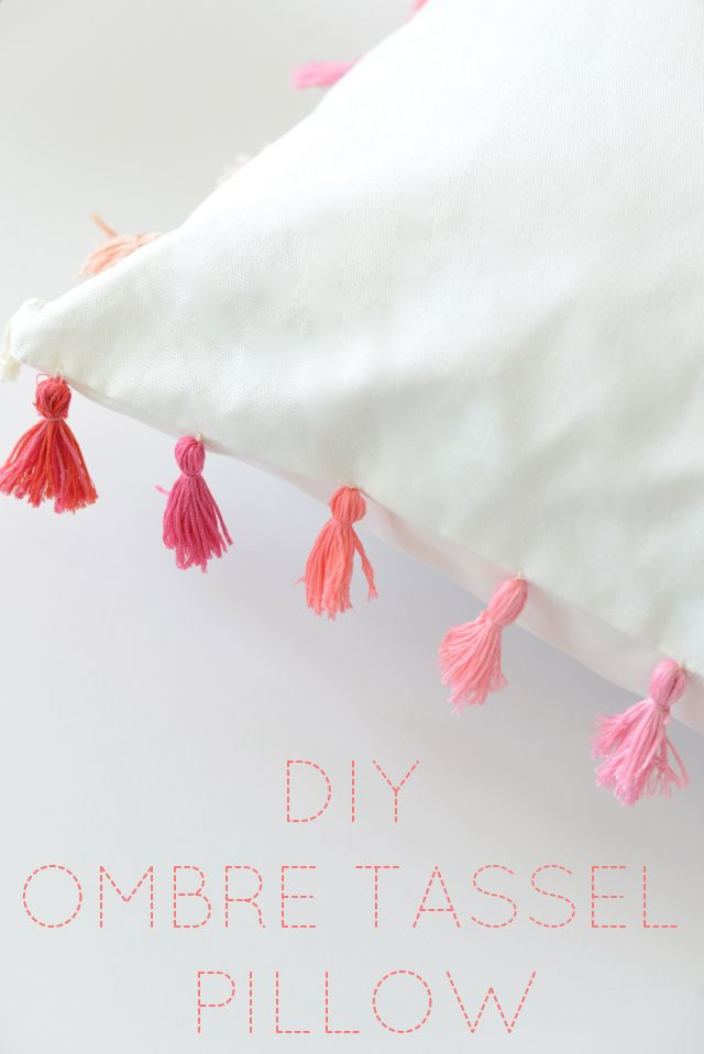 A fun, colorful way to add a custom feel to an inexpensive pillow.