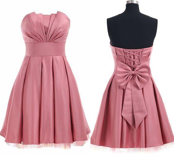Uhc0042, Charming Homecoming Dress,Satin Homecoming Dress,Lace-Up Homecoming Dress,Noble Homecoming Dress