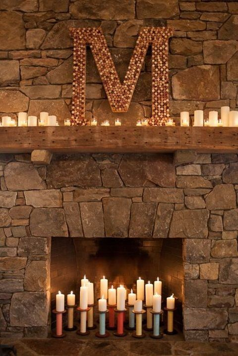 50 Wedding Fireplace Decor Ideas | HappyWedd.com #PinoftheDay #wedding #fireplace #decor #ideas
