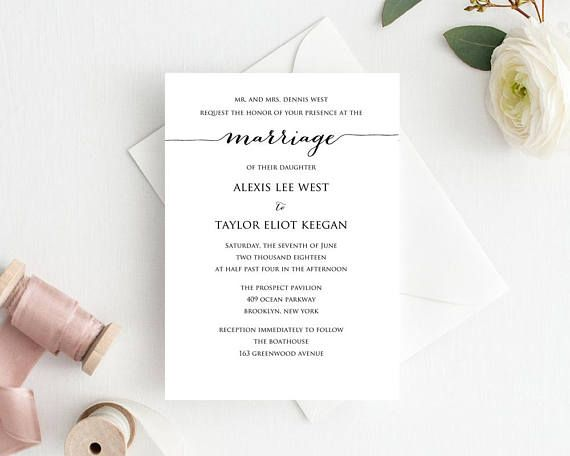 print your own wedding invitations templates