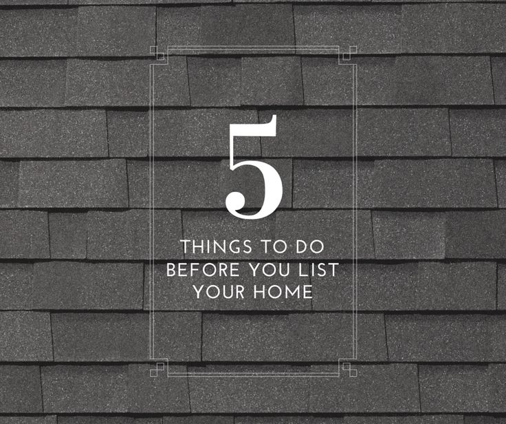 So you've decided to sell your home. Here are a couple things to do before you list your home for sale.