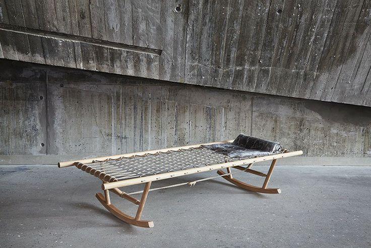 Também na mostra Danish Made, destacamos a daybed de balanço Nonno, de Jeanett Hojer, concebida para criar a sensação de se estar em uma rede