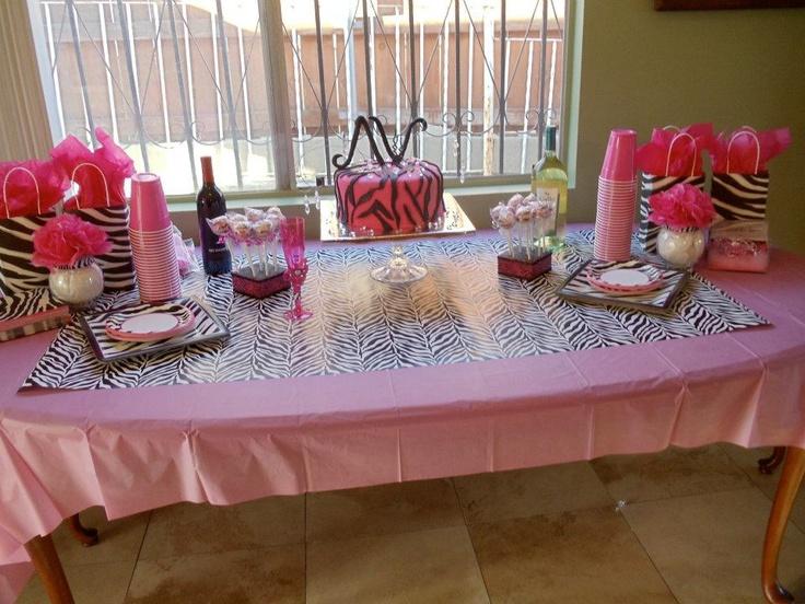 Pink and Zebra Bridal Shower!