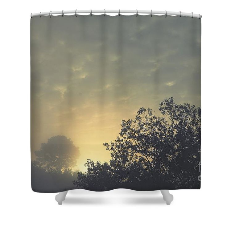 Daybreak Shower Curtain by Sverre Andreas Fekjan.  This shower curtain is made…